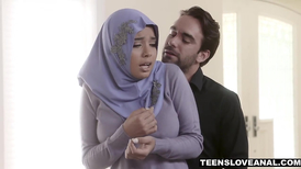 Muslim teen whore fucked anally by a horny man